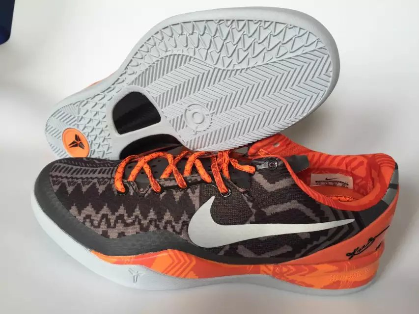 Nike Kobe 8 Black Orange Silver Shoes