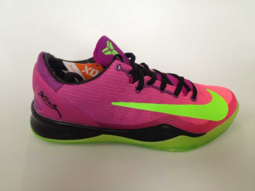 Nike Kobe 8 Purple Green Black Shoes