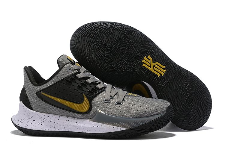 Nike Kyrie 2 Low Grey Black Gold Shoes