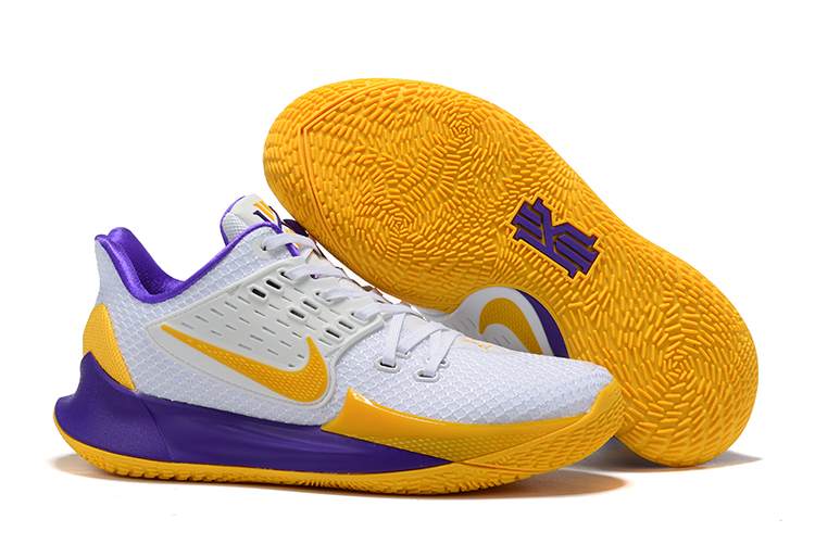 Nike Kyrie 2 Low White Yellow Purple Shoes