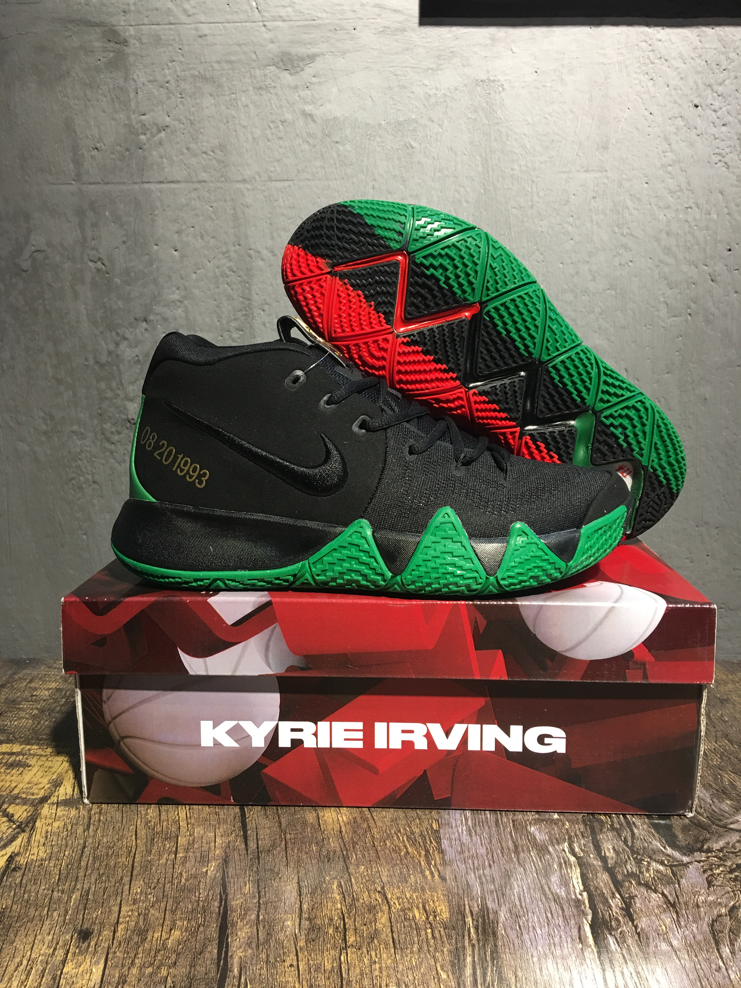 Nike Kyrie 4 BHM Black Green Shoes