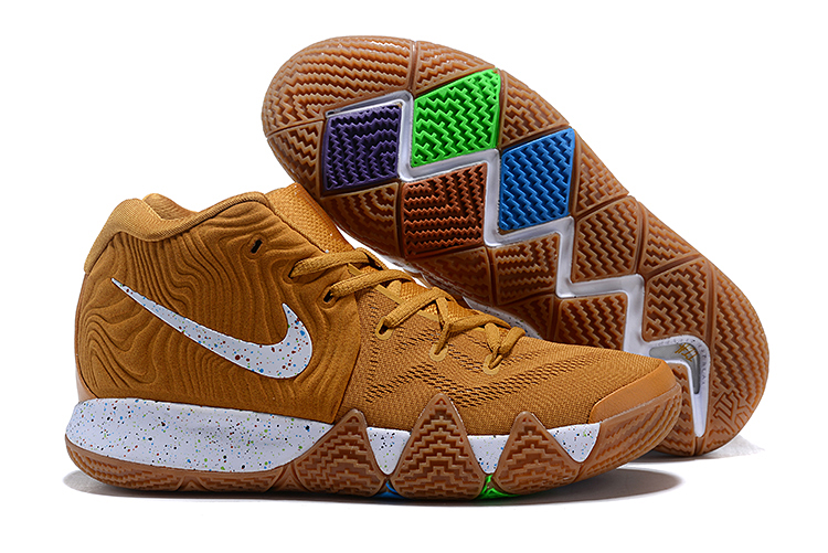 Nike Kyrie 4 Ginger Yellow White Shoes