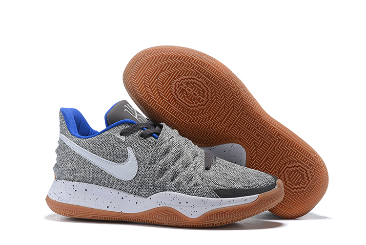 Nike Kyrie 4 Low Grey White Gum Sole Shoes