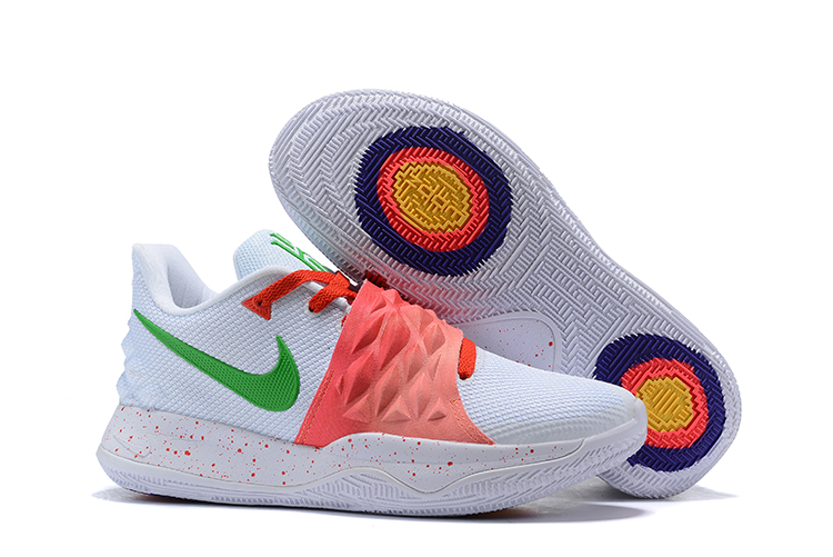 Nike Kyrie 4 Low White Orange Green Shoes