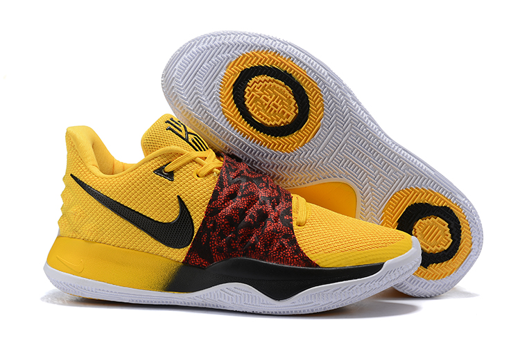 Nike Kyrie 4 Low Yellow Black Wine Red Shoes