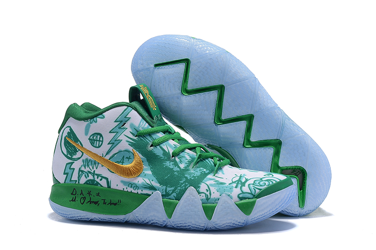Nike Kyrie 4 Opening Night Green Gold Shoes Shoes