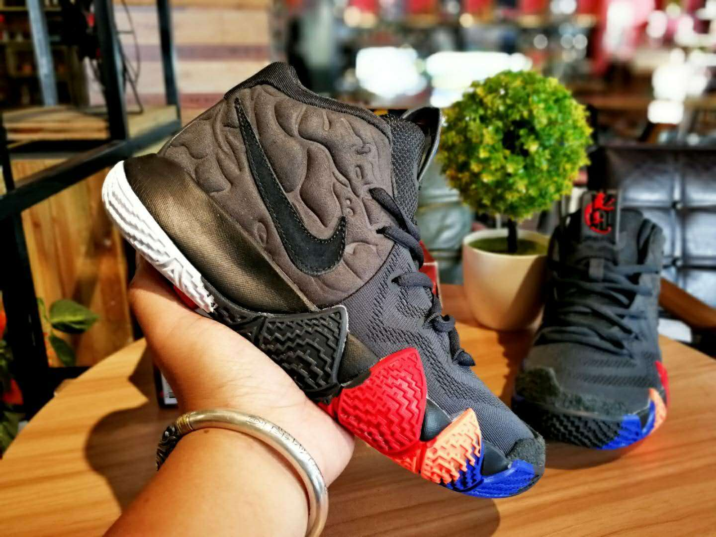 brand new 80a73 cf004 Nike Kyrie 4 Year of the Monkey Black Grey Brown Shoes