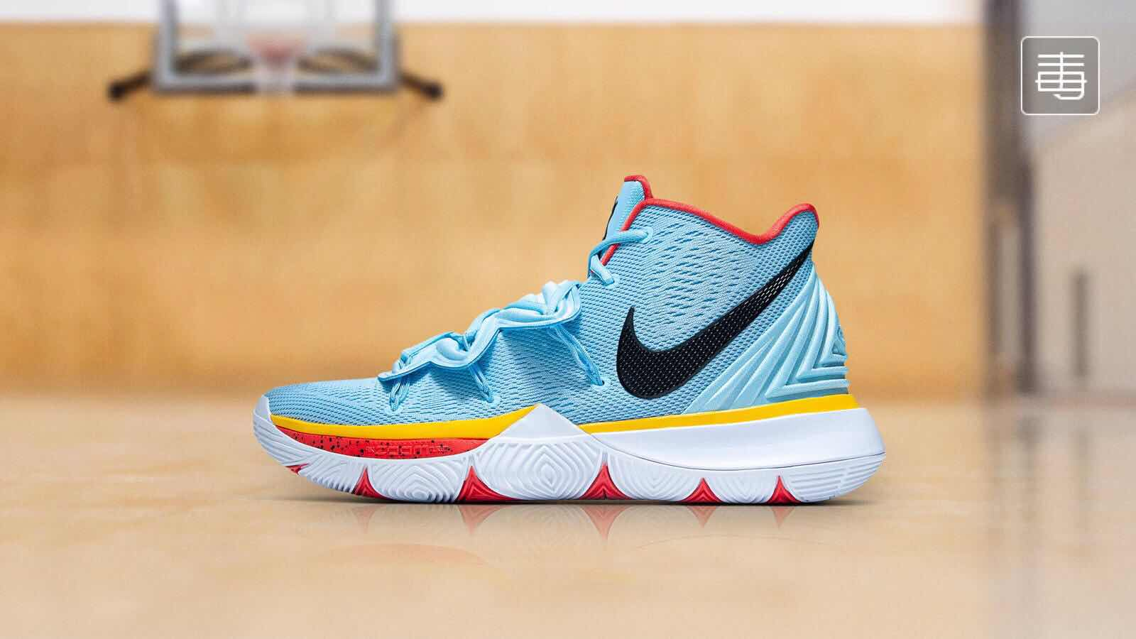 Nike Kyrie 5 Jade Blue Red Yellow Black Shoes