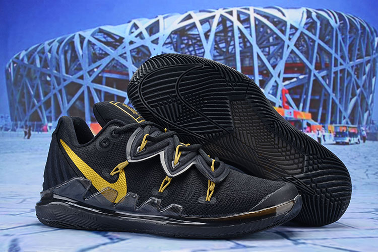 Nike Kyrie 5 Playoffs Black Gold Shoes