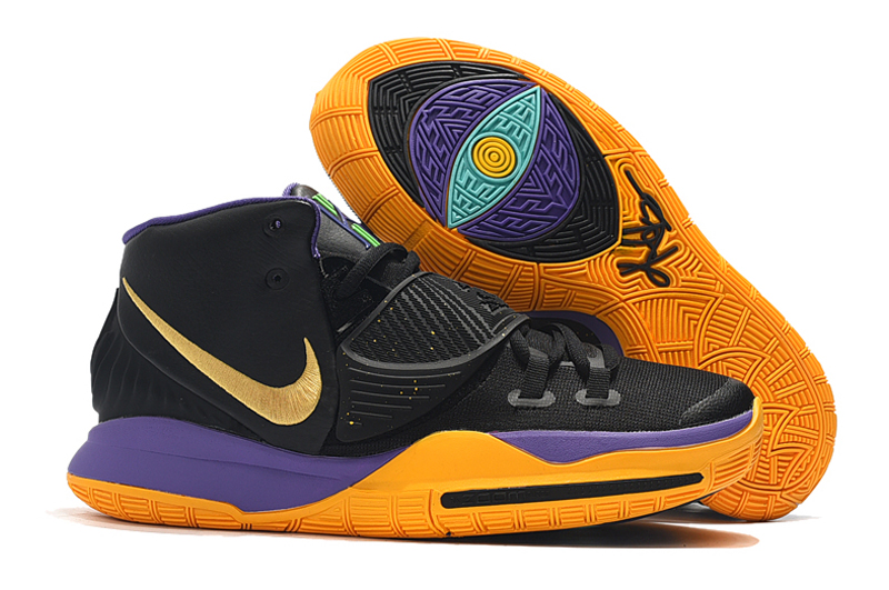 Nike Kyrie 6 Black Yellow Purple Gold Shoes