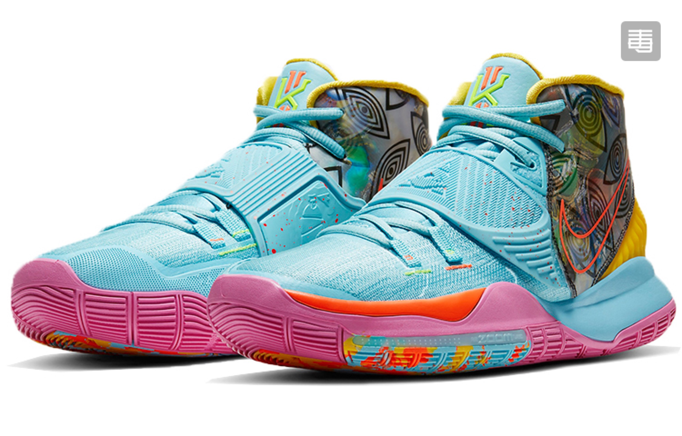 Nike Kyrie 6 Miami Blue Pink Yellow Shoes