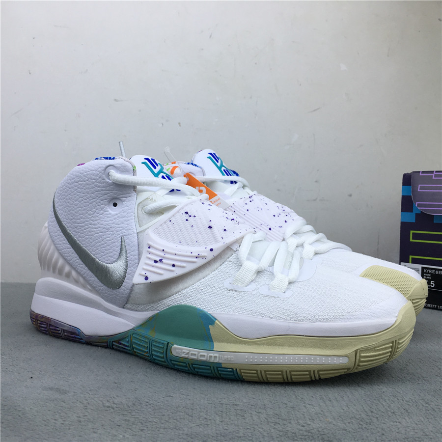 Nike Kyrie 6 RP White Silver Green Shoes