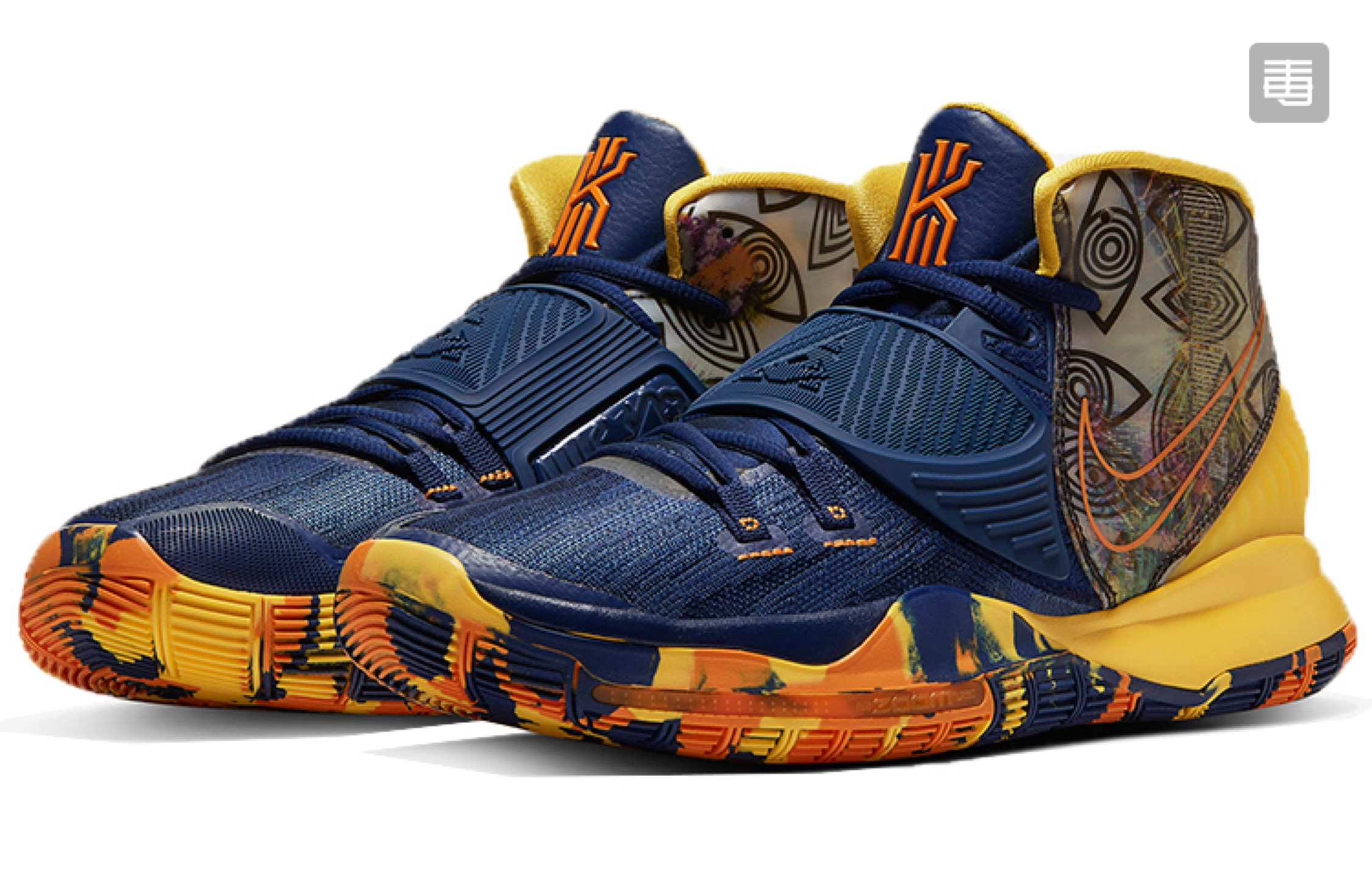 Nike Kyrie 6 TaiBei Navy Blue Yellow Shoes