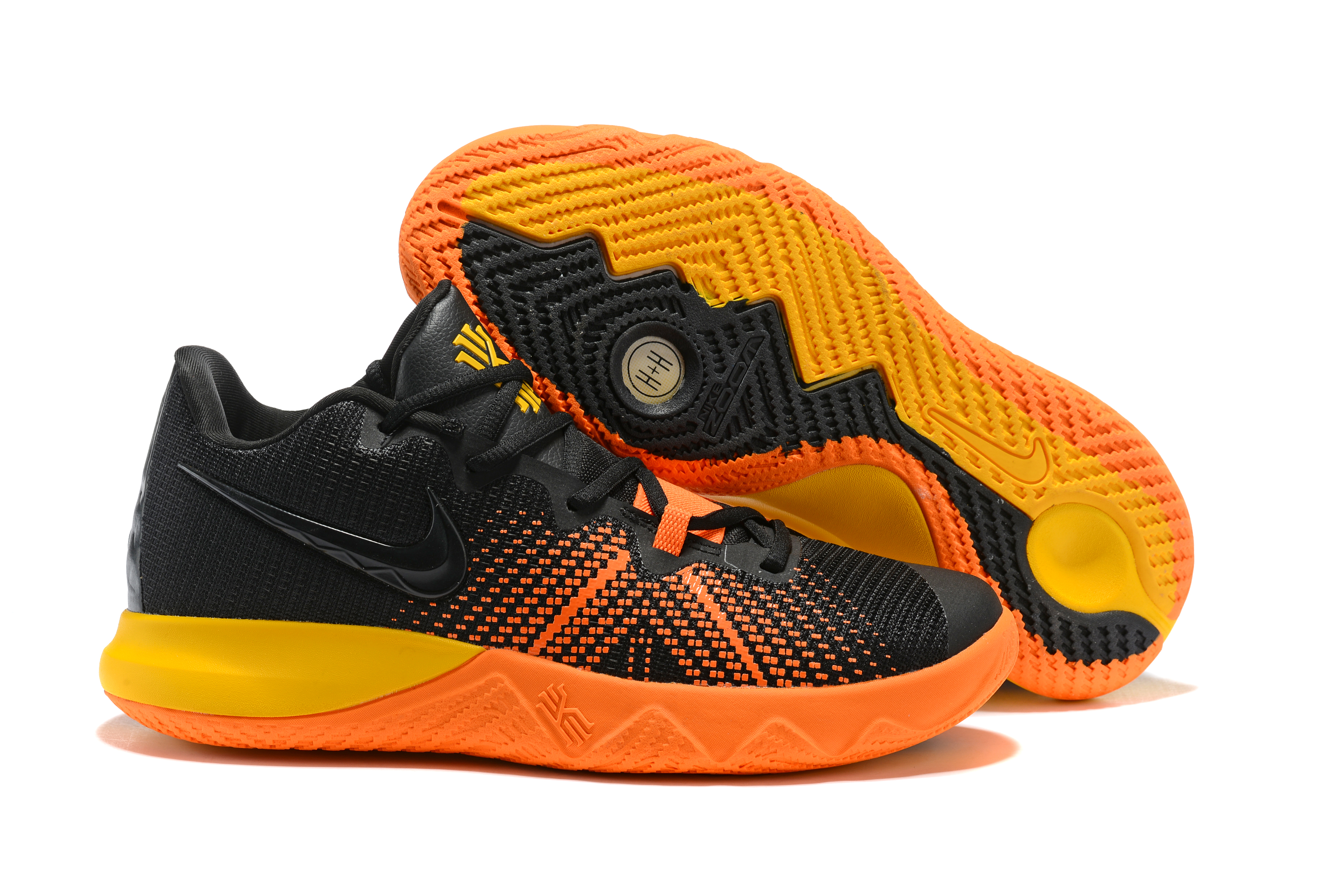 Nike Kyrie Flytrap Black Orange Yellow Shoes