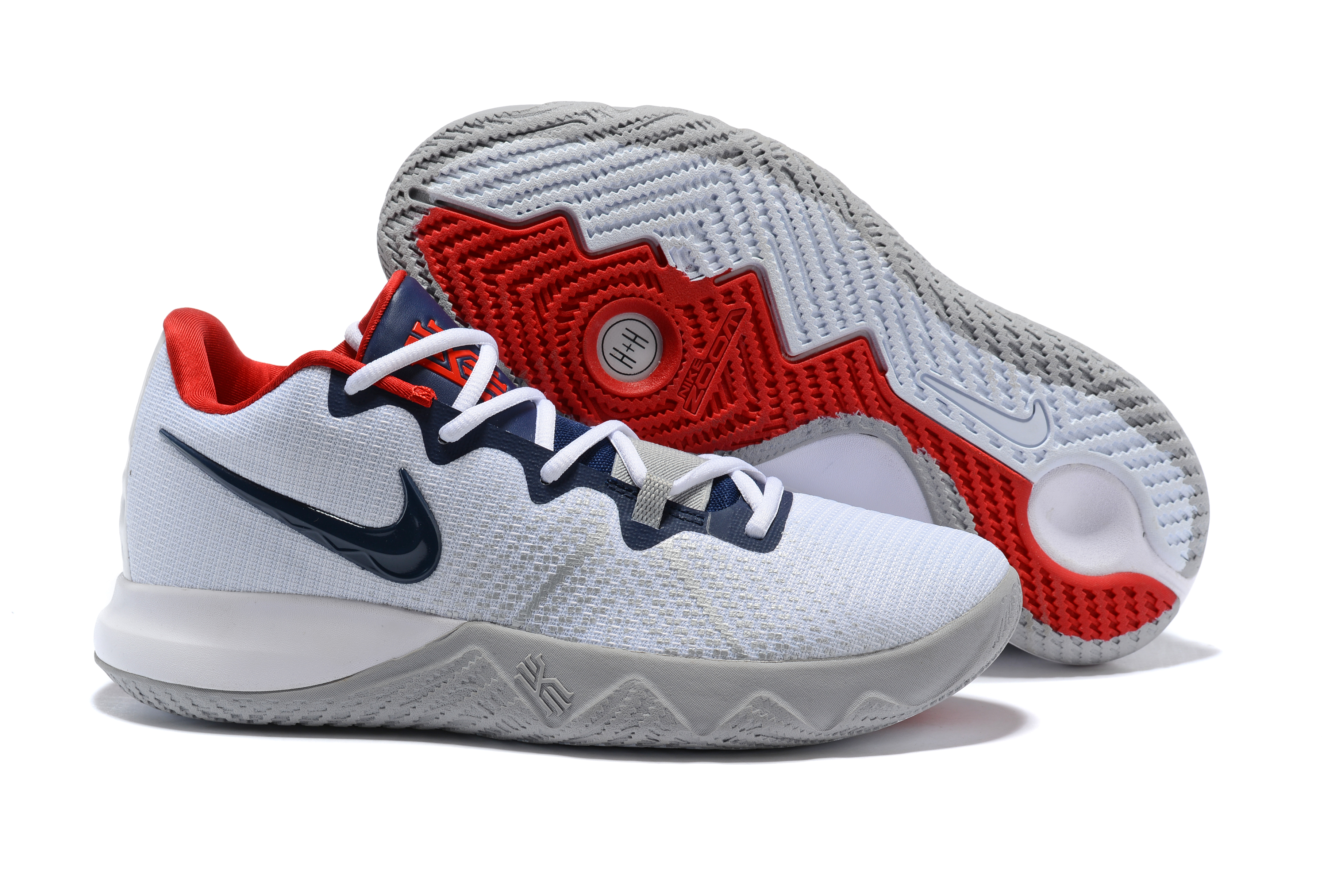 Nike Kyrie Flytrap White Deep Blue Red Shoes