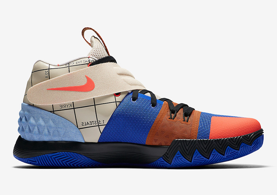 Nike Kyrie S1HYBRID Orange Blue Brown Shoes