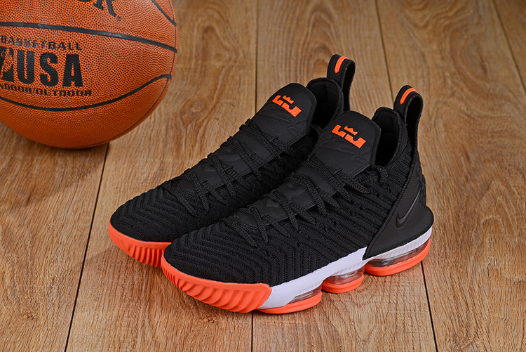 Nike LeBron 16 Black Orange Shoes