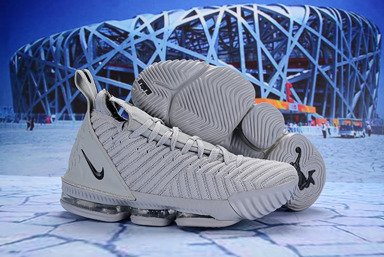 Nike LeBron 16 Grey Black Shoes
