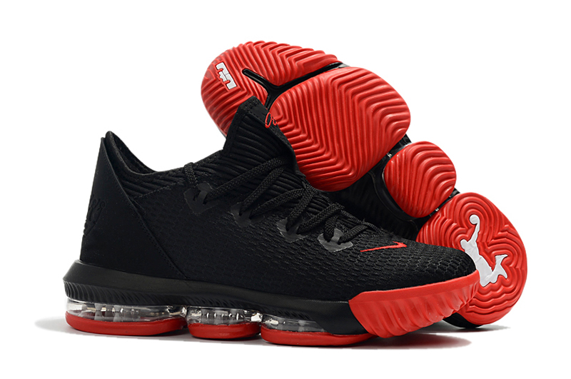 Nike LeBron 16 Low Black Red Shoes