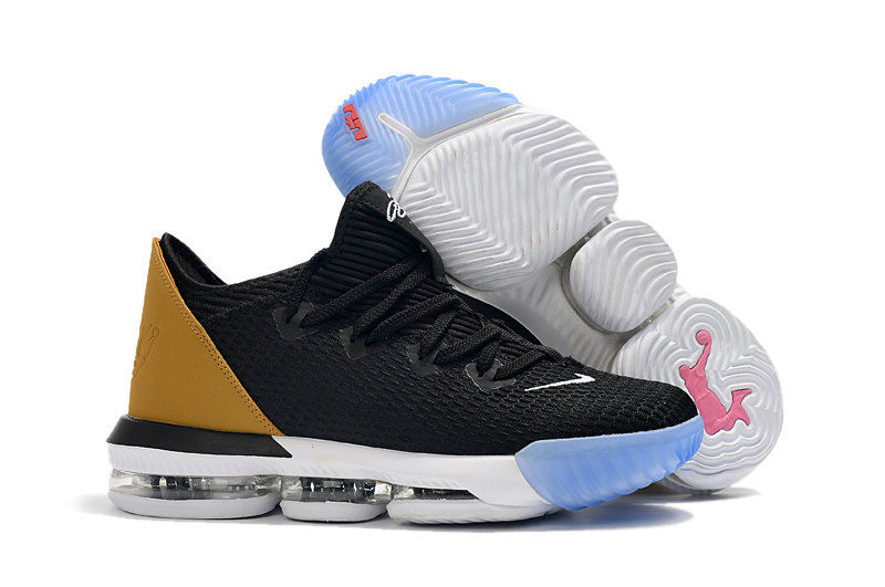 Nike LeBron 16 Low Black Yellow White Ice Sole Shoes
