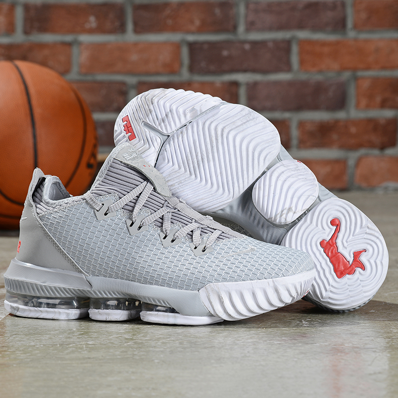 Nike LeBron 16 Low Grey Shoes
