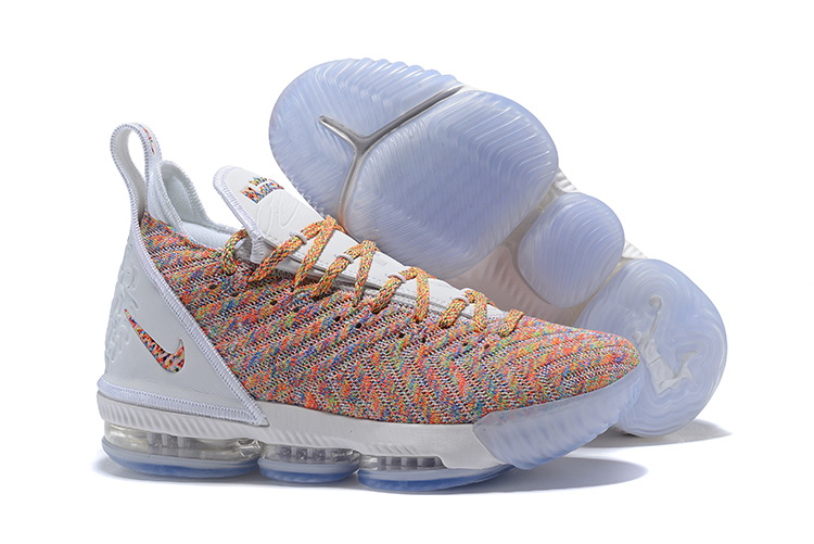 Nike LeBron 16 White Yellow Colorful Shoes