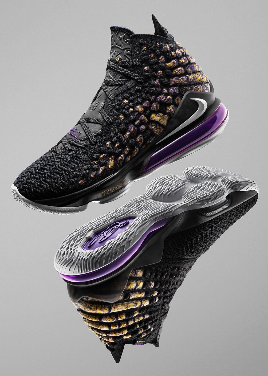 Nike LeBron 17 Black Purple Shoes