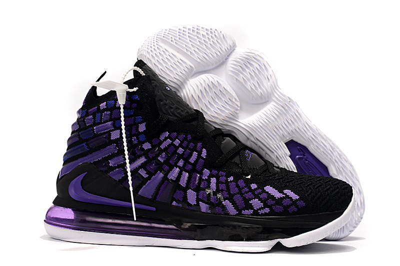 Nike LeBron 17 Black Purple White Shoes
