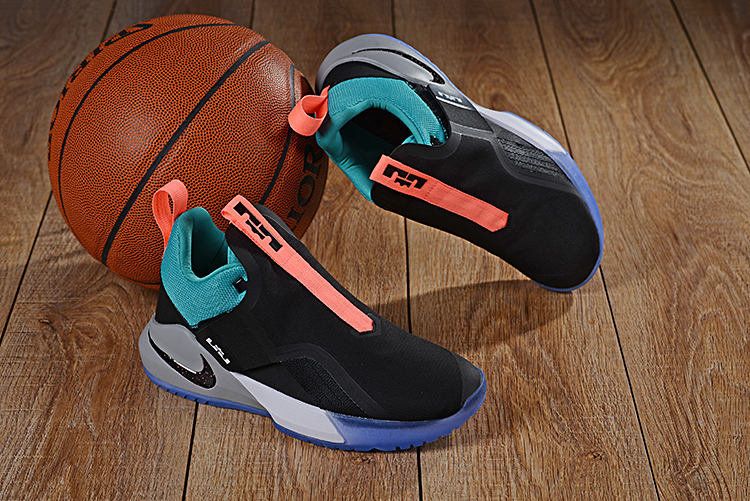 Nike LeBron Ambassador 11 Black Jade Orange Shoes