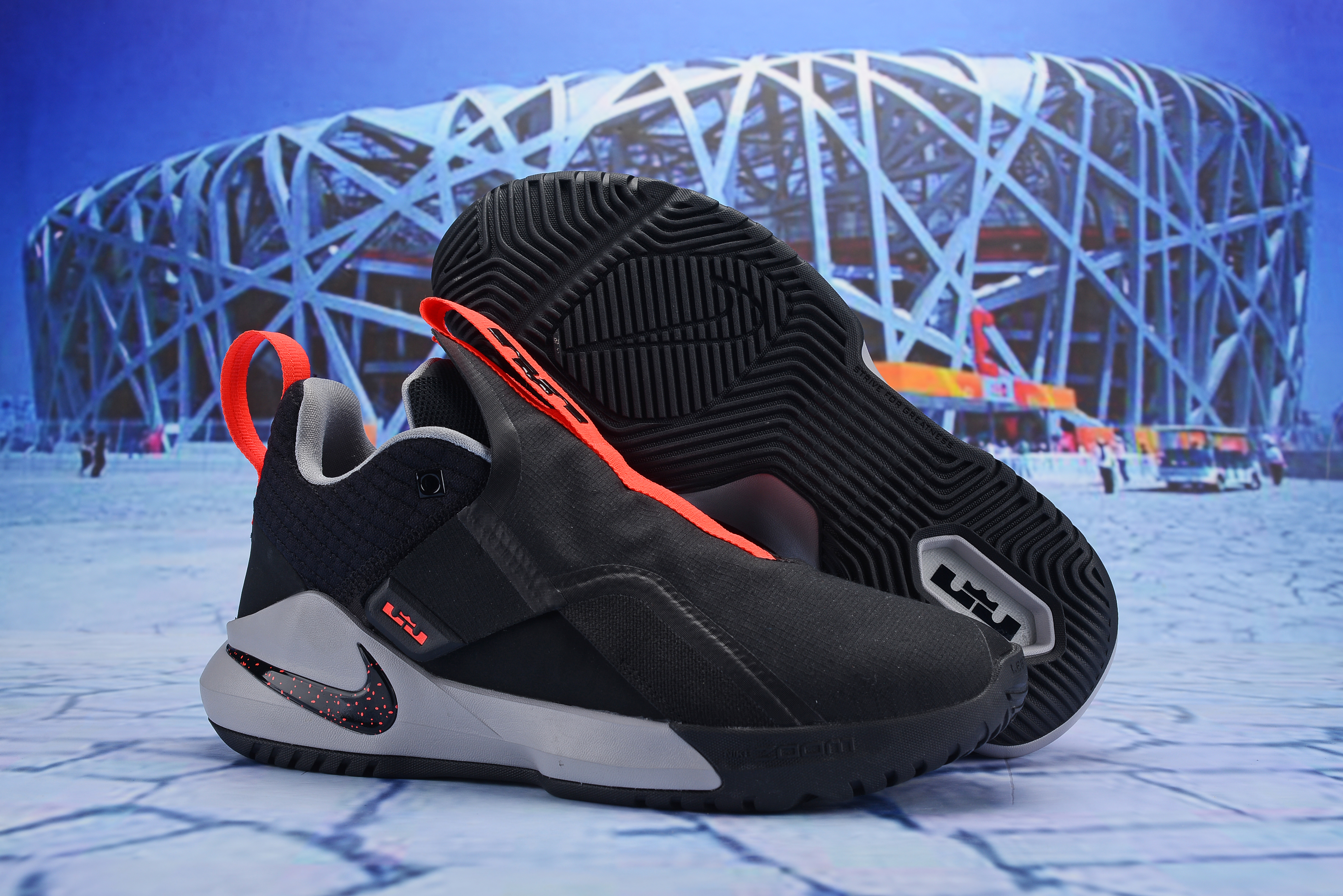 Nike LeBron Ambassador 11 Black Orange Shoes