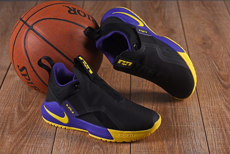 Nike LeBron Ambassador 11 Black Purple Yellow Shoes