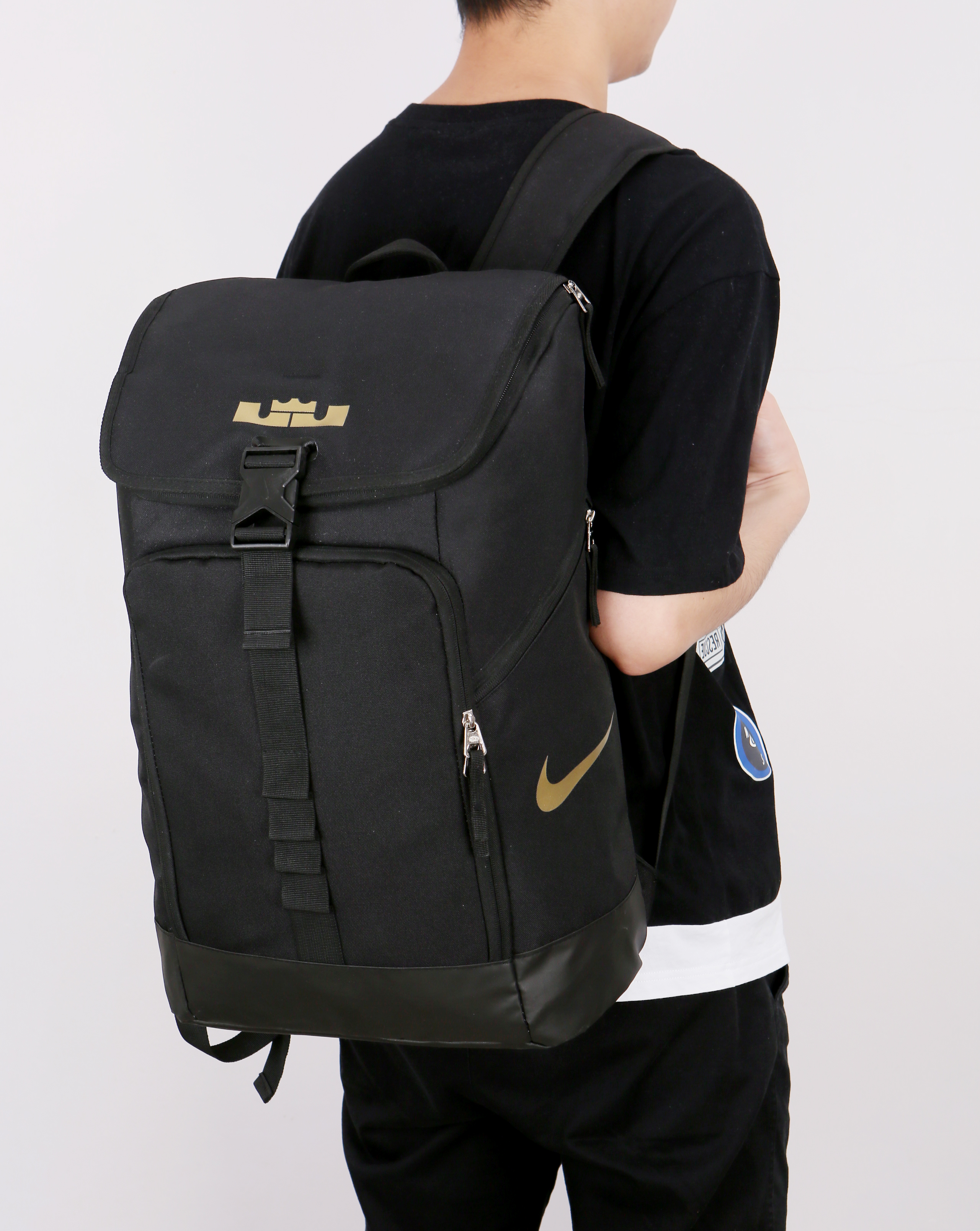 Nike LeBron Backpack Black Gold