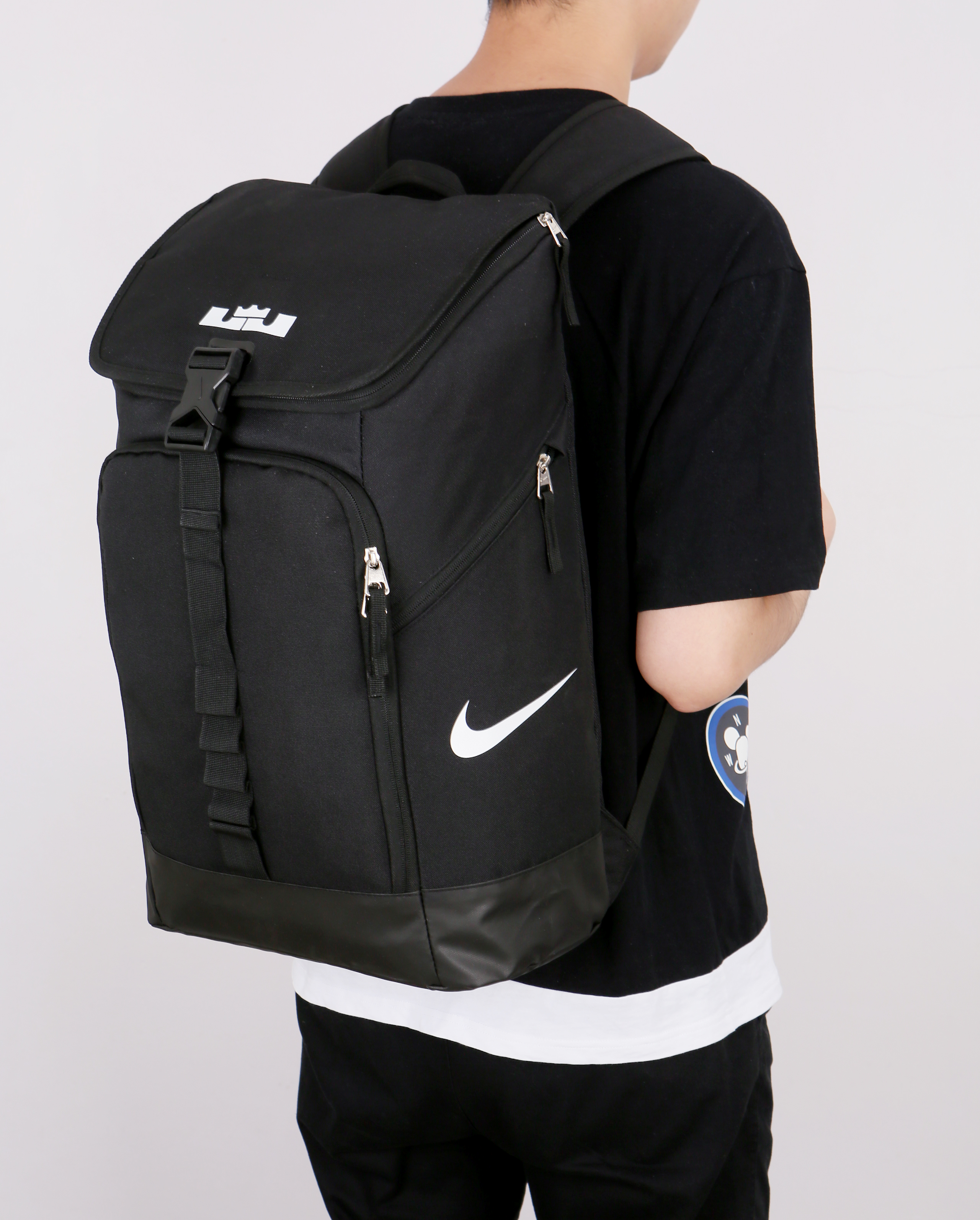 Nike LeBron Backpack Black White