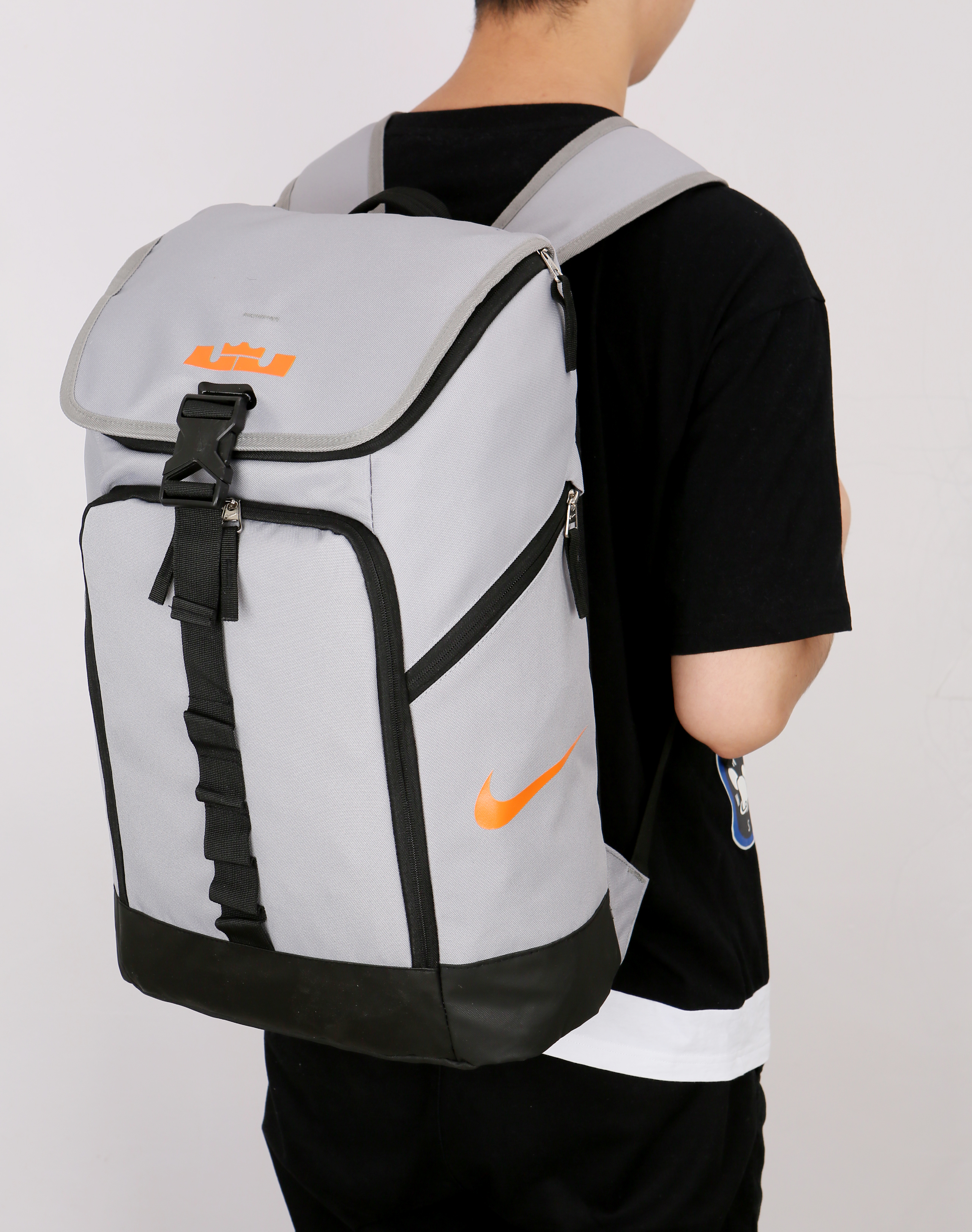 Nike LeBron Backpack Grey Black Yellow