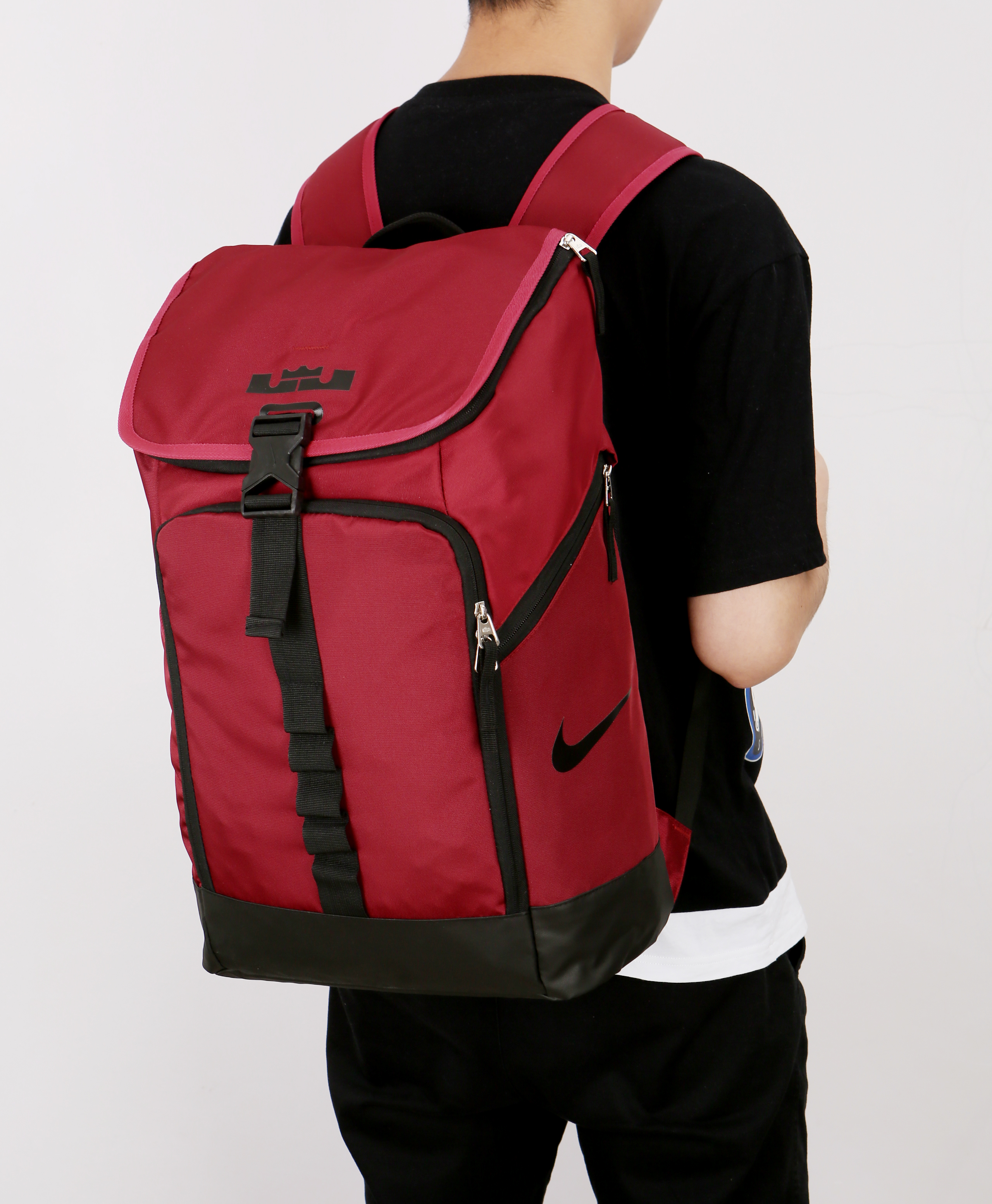 Nike LeBron Backpack Red Black