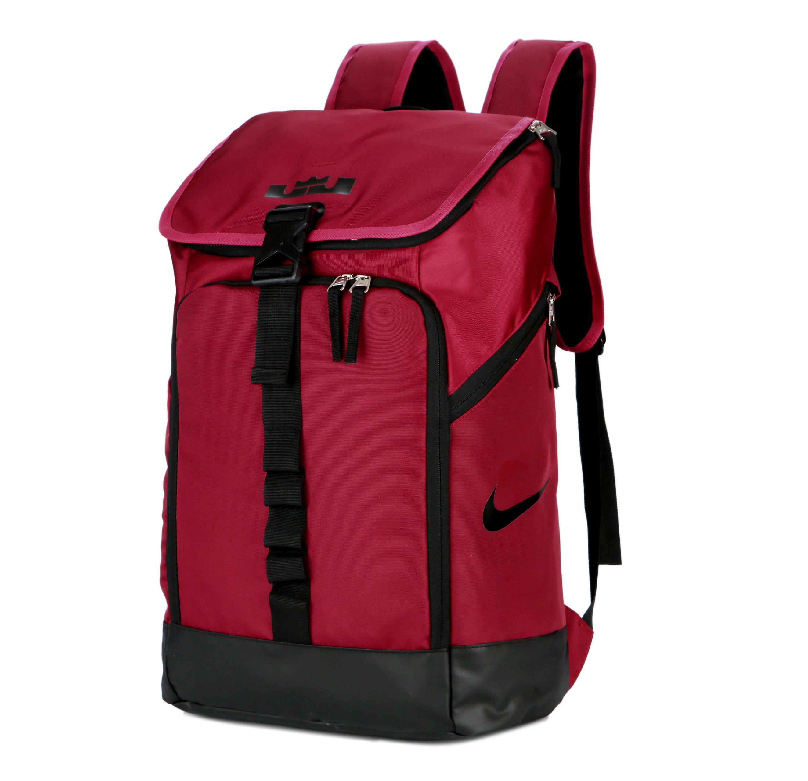 Nike LeBron Backpack Wined Red Black