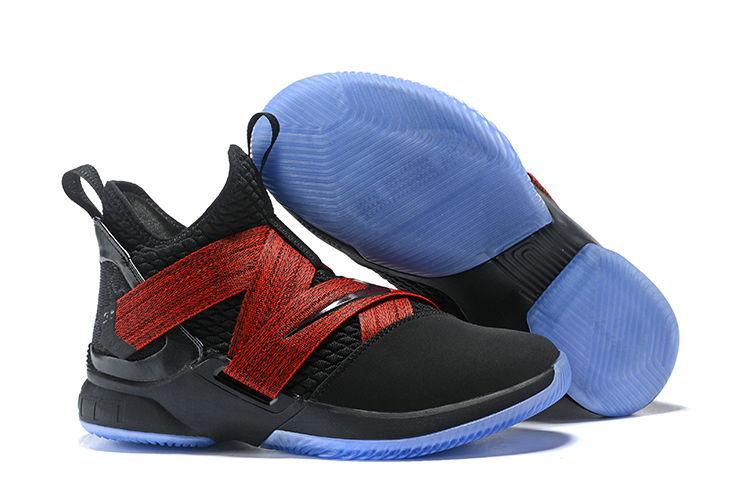 Nike LeBron Soldier 12 Black Red Blue Sole Shoes