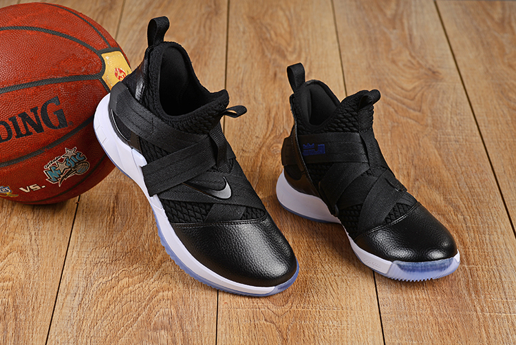 the latest 20aae 1d877 Nike LeBron Soldier 12 Black White Ice Sole Shoes ...