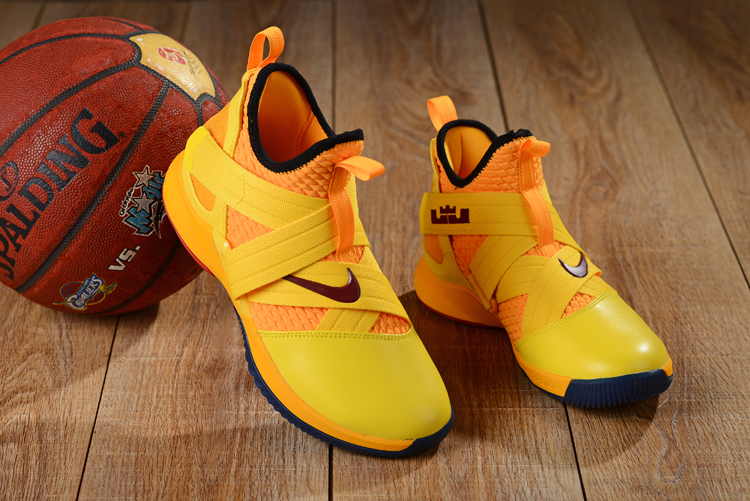 Nike LeBron Soldier 12 Yellow Black Shoes