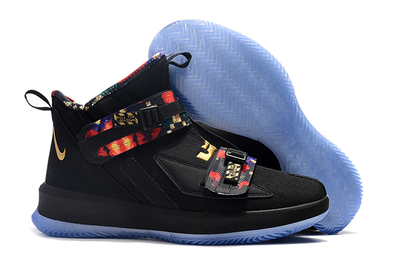 Nike LeBron Soldier 13 Black Rainbow Shoes