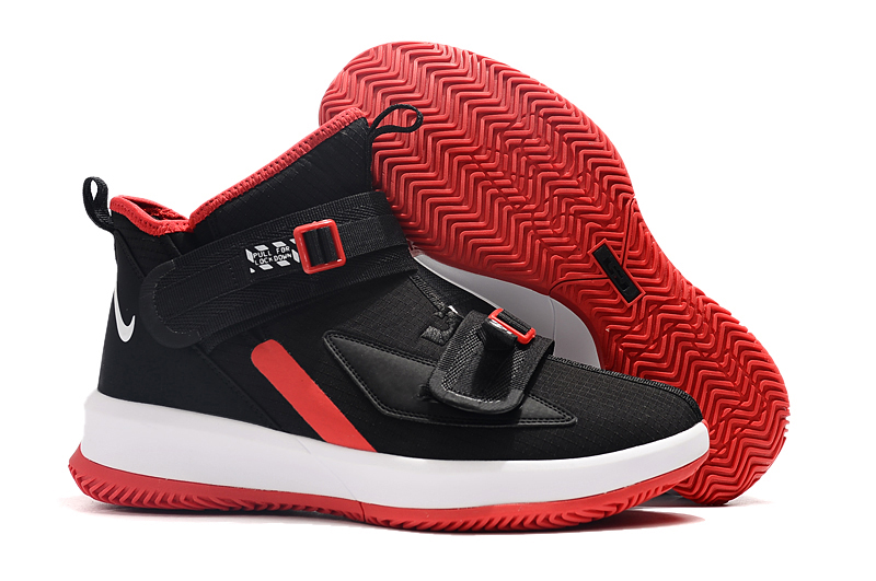 Nike LeBron Soldier 13 Black White Red Shoes