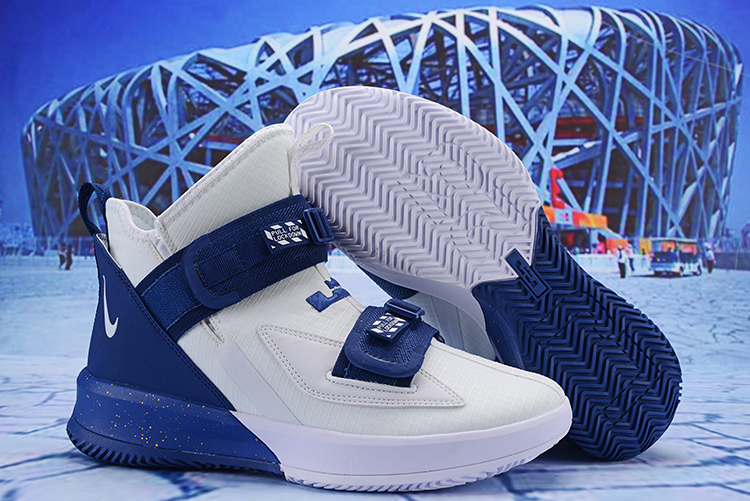 Nike LeBron Soldier 13 White Blue Shoes