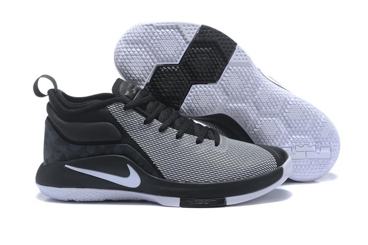 517e78950ddfb Nike LeBron Witness 2 Grey Black White Basketball Shoes  18kobe5801 ...