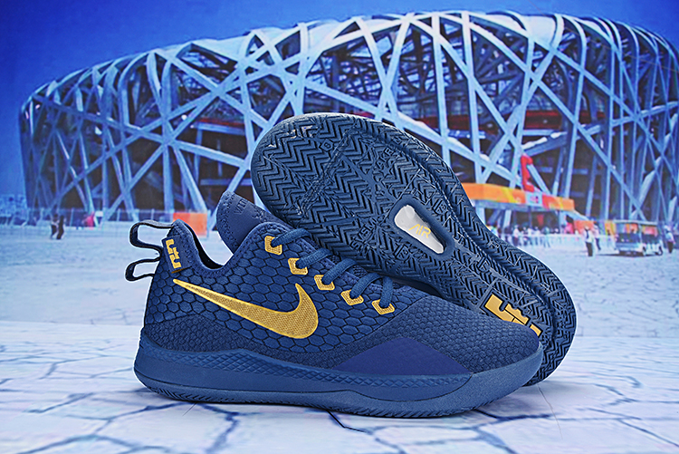 Nike LeBron Witness 3 Blue Gold Shoes