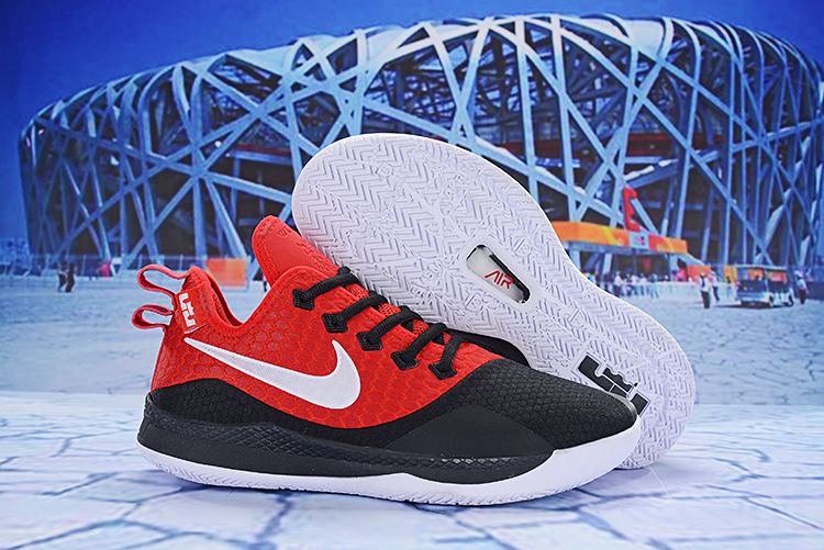Nike LeBron Witness 3 Red Black White Shoes