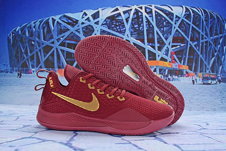 Nike LeBron Witness 3 Wine Red Gold Shoes