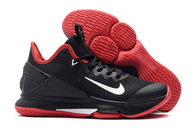 Nike LeBron Witness 4 Black Red White Shoes
