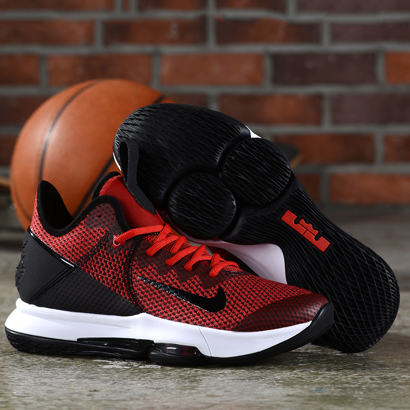 Nike LeBron Witness 4 Red Black White Shoes