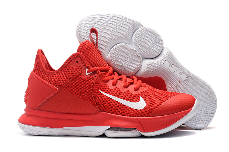 Nike LeBron Witness 4 Red White Shoes