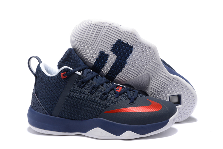 Nike LeBron Witness 9 Deep Blue Red White Shoes